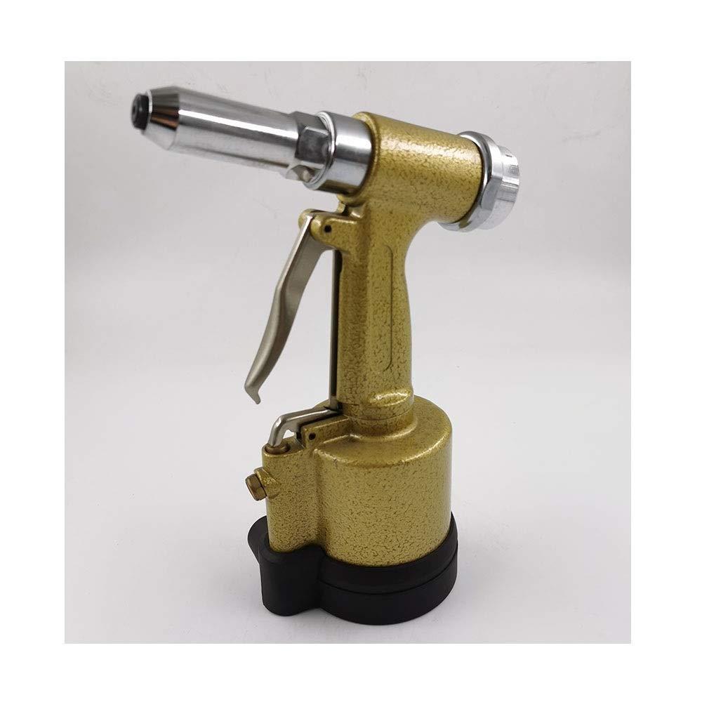 Pneumatic Rivet Gun, Vertical Rivet Gun, Home Decoration Nail Gun, Pull Nail Stroke 16mm (Color : Yellow) by XIAOL-Pneumatic Tool