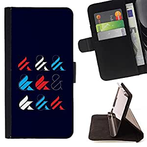Momo Phone Case / Flip Funda de Cuero Case Cover - Y Muestra Caligrafía minimalista Estilo - Samsung Galaxy A5 ( A5000 ) 2014 Version