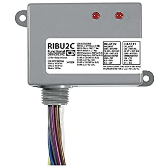 Amazon.com: Functional Devices RIBU2C Pilot Relays, 10 Amp 2 SPDT, 10-30  Vac/dc/120 Vac Coil, NEMA 1 Housing: Industrial & ScientificAmazon.com