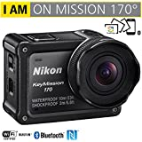 Nikon 26514B KeyMission 170 4K Ultra HD Action Camera with Built-In Wi-Fi - (Certified Refurbished)