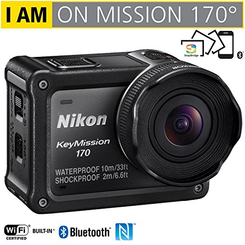 Nikon 26514B KeyMission 170 4K Ultra HD Action Camera with Built-In Wi-Fi - (Renewed)