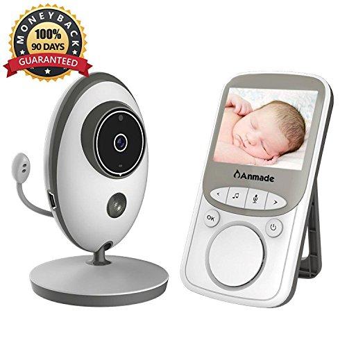 Beli dalam talian Video Baby Monitor Wireless with Digital Camera,Anmade Way Talkback, .4inch Screen Night Vision Temperature Monitoring