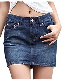 Chouyatou Women's Casual Short Denim Skirt