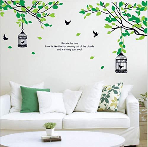 Vinilos De Pared Decorativos Bosque Jaula De Pájaros Sala De Estar ...