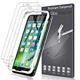 LK [3 Pack] Screen Protector for iPhone 7 Plus, [Tempered Glass][Case Friendly] DoubleDefence Technology [Alignment Frame Easy Installation] [3D Touch] with Lifetime Replacement Warranty