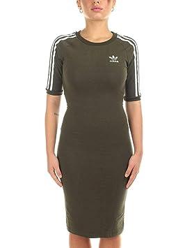 Adidas 3 Stripes Dress Camiseta, Mujer, Negro (Cargo Noche), 32: Amazon.es: Deportes y aire libre