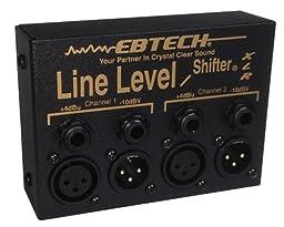 Ebtech LLS-2-XLR Line Level Shifter 2-Channel Box with XLR Jacks