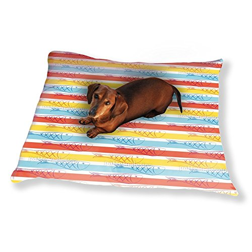 Herring In Summer Dog Pillow Luxury Dog / Cat Pet (Herring Stripe)