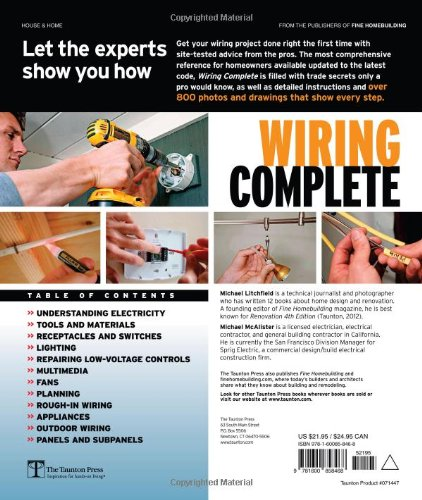 wiring complete second edition taunton s complete michael rh amazon com House Wiring For Dummies House Wiring Circuits Diagram