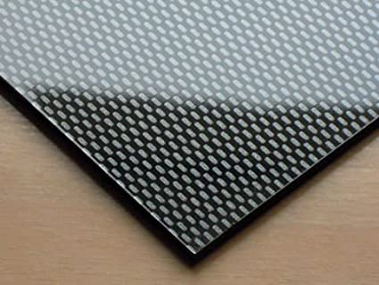 [WOOTTON INDUSTRIES LIMITED] ABS Carbon Fibre Effect Plastic Sheet A4 297mm  x 210mm x 3mm (Acrylonite Butadiene Styrene)