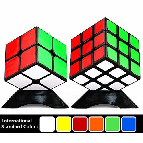 BenRan Speed Cube, Smooth Cornering Puzzle Cube, Easily Twist With Superior Cornering, Eco-Friendly ABS Plastics (Cube 2x2+3x3)