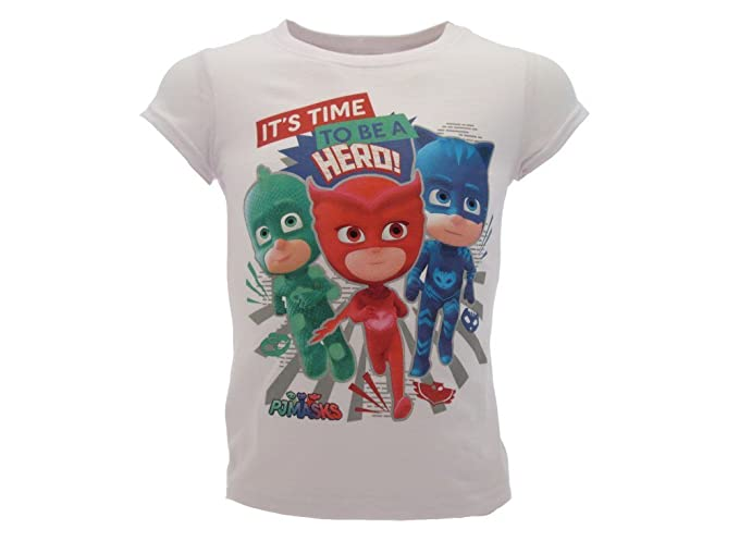 Camiseta original PJ Masks, producto original Bianco 116 cm