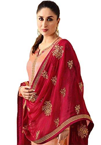 Delisa Ready Made New Designer Indian/Pakistani Fashion Dresses for Women K3 (Orange, - Salwar Party Wear For Women Suits