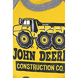 John Deere Baby Construction Co. Bodyshirt, Yellow