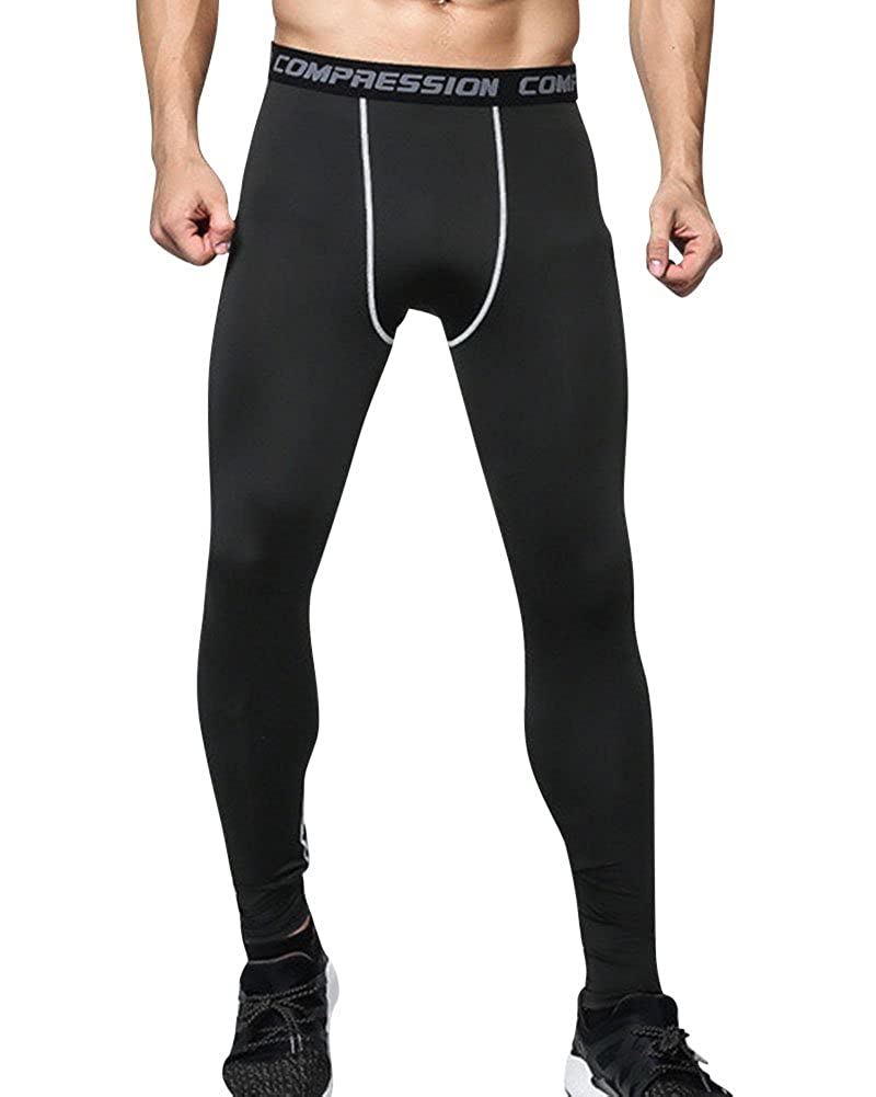ZhuiKun Hombre Mallas Térmicas de Compresión Polainas Apretadas Larga Deportes Leggings Pantalones