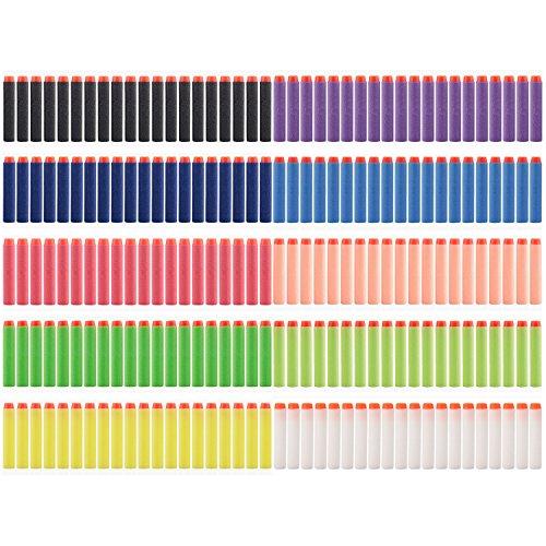 Vanka 200pcs Dart Refill Pack for N-strike Elite Blaster (10 Different Color) (Green Machine Purple 16 compare prices)