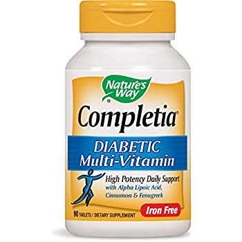 Nature's Way Completia Diabetic Multivitamin (iron-free), 90 Tablets