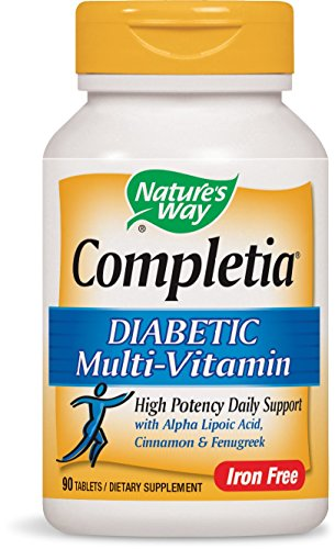 Diabetic Multivitamin - Nature's Way Completia Diabetic Multivitamin (iron-free), 90 Tablets