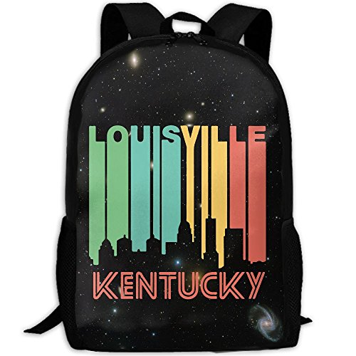 Retro 1970's Style Louisville Interest Print Custom Unique Casual Backpack School Bag Travel Daypack - Louisville Sunglasses