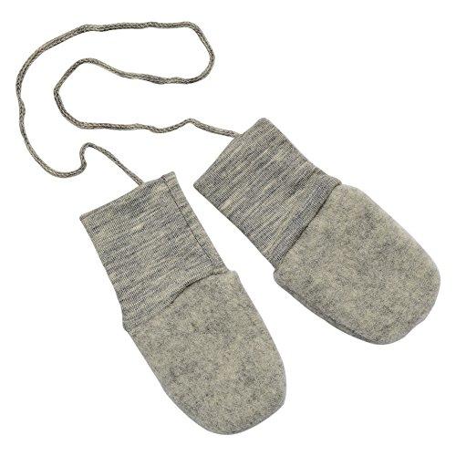 Baby Merino Wool (Baby Organic Merino Wool Fleece Mittens (Grey))