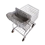 Eddie Bauer Comfy Cart Cover & High Chair Cover, Grey & White