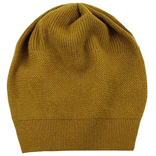 WaySoft 100% Cashmere Beanie for Women in a Gift Box, Oversized Women Beanie Hat (Green Sulphur)
