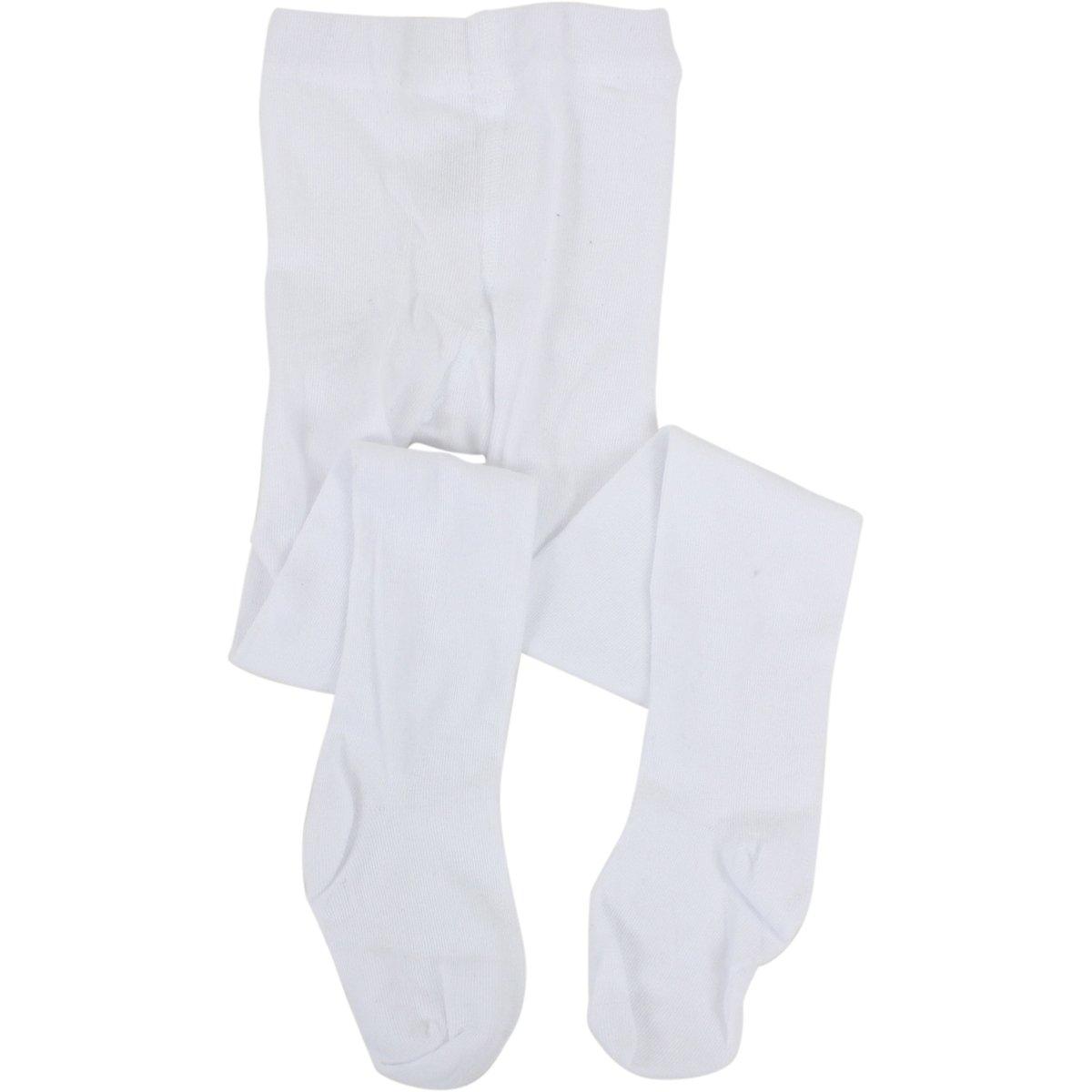 Stride Rite Toddler//Little Kid//Big Girls White Comfort Seam Toe Tights