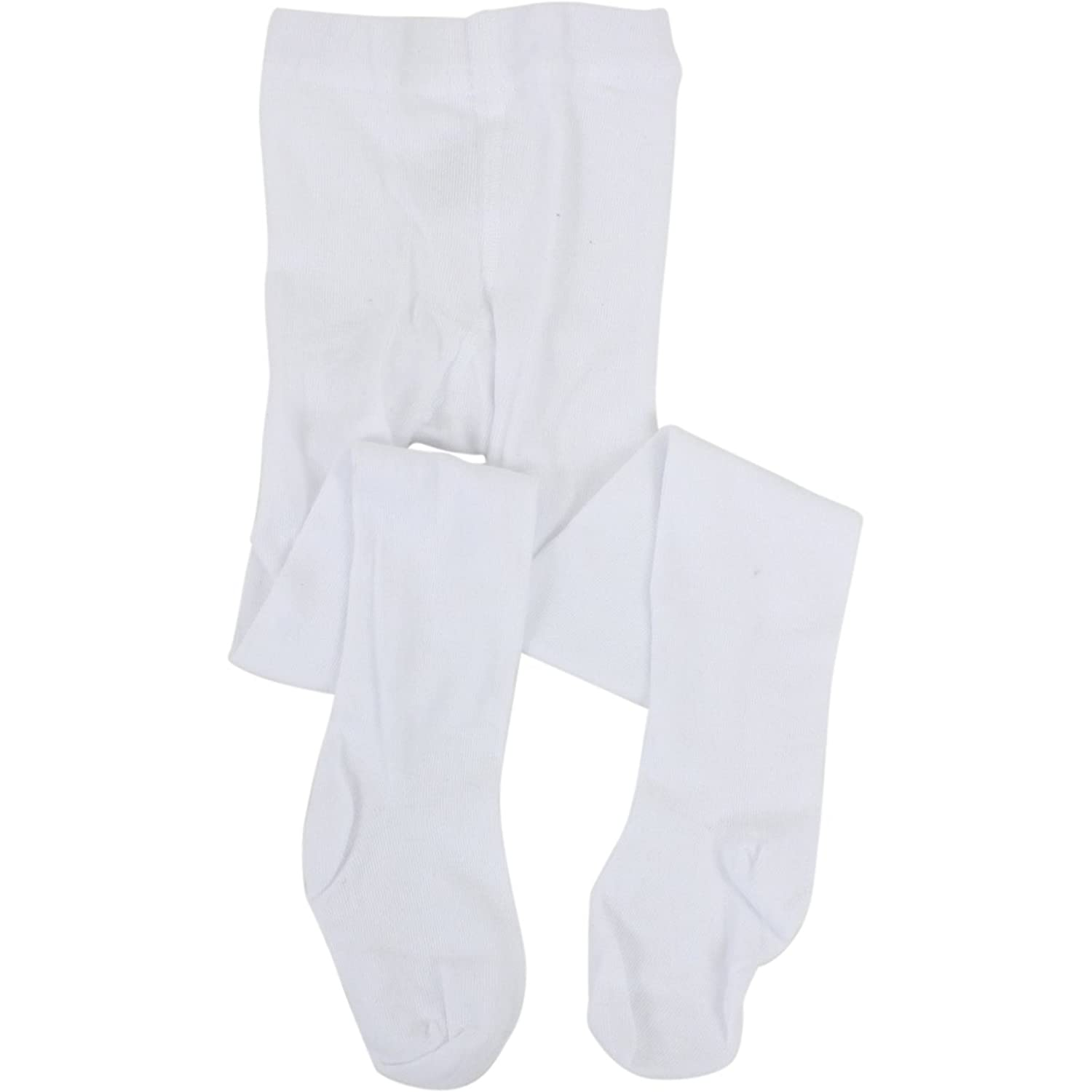 Stride Rite Toddler/Little Kid/Big Girl's White Comfort Seam Toe Tights