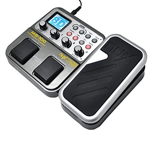 NUX MG-100 Modeling Guitar Processor Guitar Effect Pedal Drum Tuner Recorder 58 Effect 72 Preset Multi-function (Guitar Recorder)
