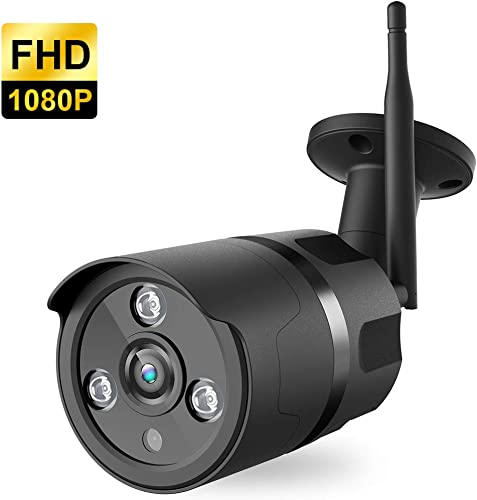 Outdoor Camera Wireless – 1080P WiFi Outdoor Security Camera, FHD Night Vision, A.I. Motion Detection, Instant Alert via Phone, 2-Way Audio, Live Video Zooms Function, Cloud Storage Micro SD Card