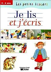 Je lis et j'écris : 3-4 ans, cahier (Les Petits Lascars)