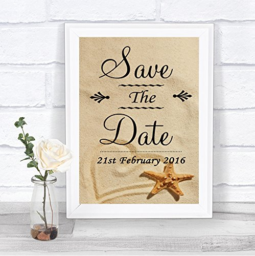 Beach Sand Save The Date Personalized Wedding Sign