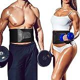 Fullmosa Waist Trimmer, Waist Trainer Ab Belt & Weight Loss & Slimming Fitness Belt,Lower Back/Lumbar/Abdominal Muscle Support, Stomach Fat Burner, Sauna Effect for Men and Women -B-L