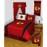 NHL Chicago Blackhawks 5pc Queen Hockey Bedding Set