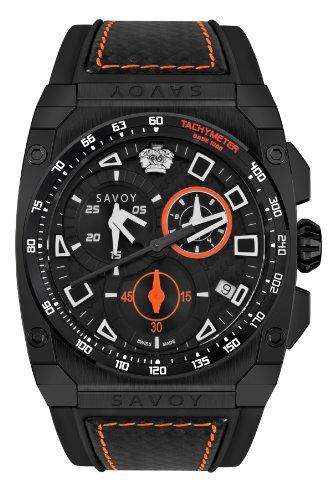 Savoy Icon Extreme - Chrono - Black Carbon Fiber & Orange - Men's Watch