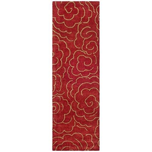 Safavieh Soho Collection SOH812A Handmade Red Premium Wool Runner (2'6