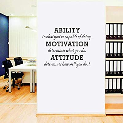 ANBER Inspirational Wall Quotes Sayings Decals Removable Vinyl Sticker Kids Room Living Room Bedroom Classroom Office Home Decor: Home & Kitchen