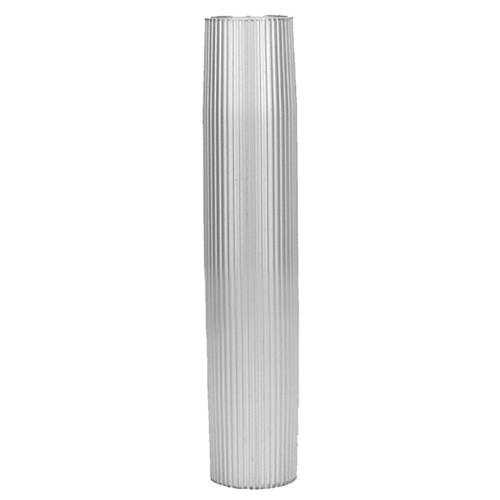 TACO Metals Taco Aluminum Ribbed Table Pedestal - 2-3/8'' O.d. - 27-1/2'' Length by Taco Metals (Image #1)