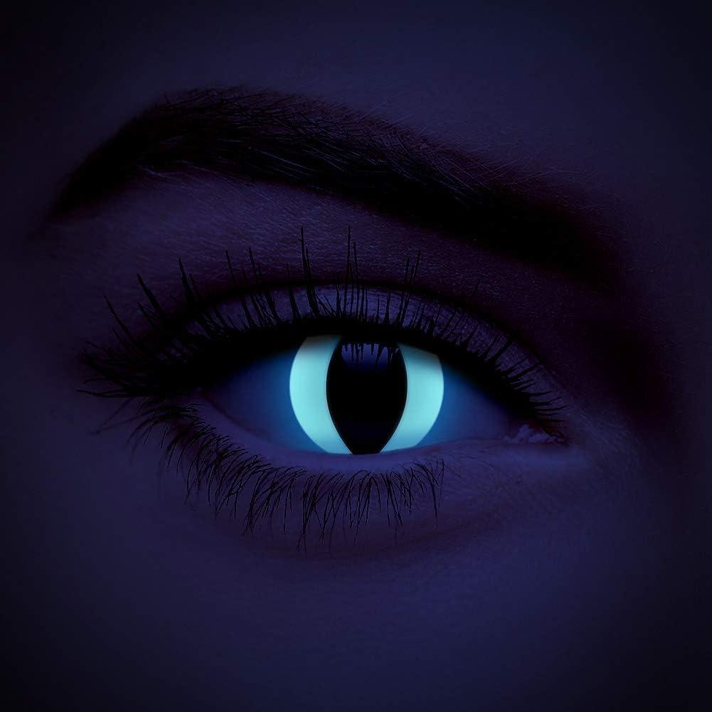 chromaview Lentillas De Color UV I-Glow Gato Blanco De 30 Días - Sin Graduación