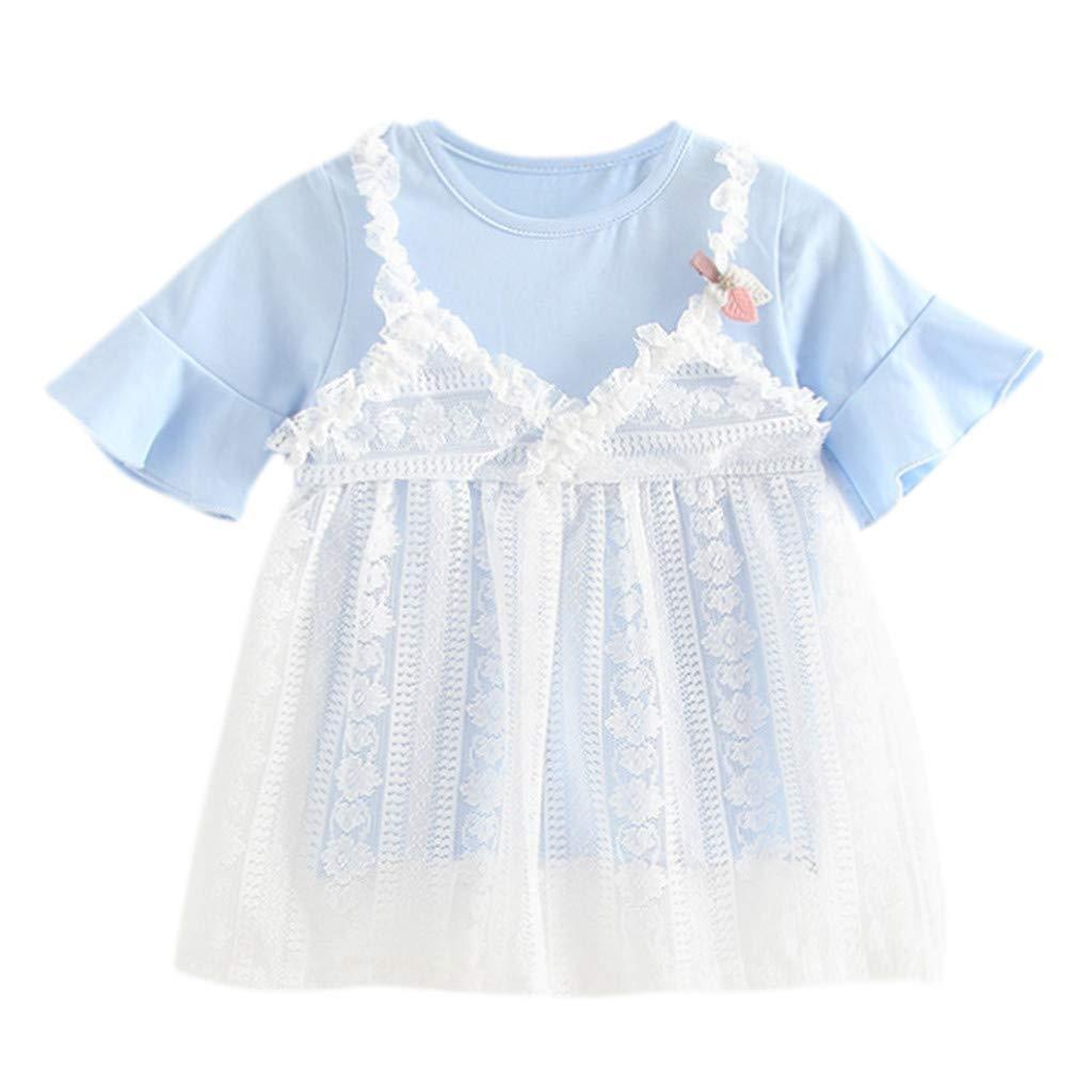 MEIbax Kleinkind Baby m/ädchen Spitze Blume Prinzessin t/üll Kleid Kleidung Outfits Sommerkleid Babybekleidung