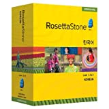 Rosetta Stone Korean Levels 1,2 & 3 Set with Audio Companion Homeschool Edition, Version 3