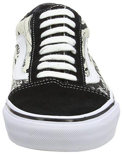 VansOld Skool - Zapatillas De Deporte Para Exterior Unisex adulto Negro - Noir (Newsprint/Black/White)