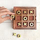 storeindya Handmade Wooden Peg Solitre And Tic Tac Toe Travel Game Set For Kids & Adults (2in1)