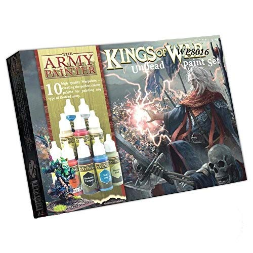 The Army Painter Kings of War Undead Miniatures Paint Set - Highly Pigmented Acrylic Model Paint Set - 10 Miniature Paints in 18ml Dropper Bottles