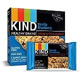 KIND Healthy Grains Bars, Vanilla Blueberry, Gluten Free, 1.2 oz, 5 Count (6 Pack)
