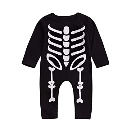 d6903ca11 AutumnFall ❤ ❤️Clearance ❤ ❤️Toddler Baby Boys Girls Long Sleeve Skull Print