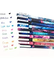 Cute Color Pens for Women Toshine Colorful Gel Ink Pens 10 Pcs (0.5 mm)