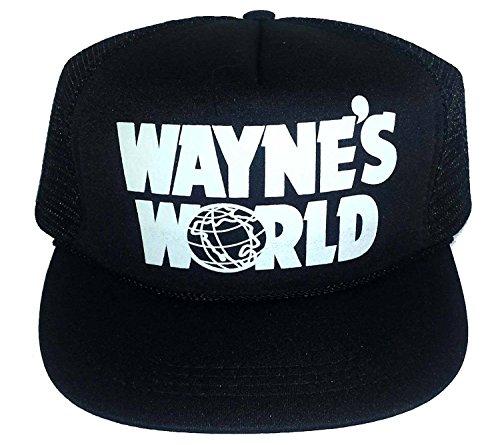 Waynes World Costume Hat (ThatsRad Kid's Wayne's World Halloween Costume Mesh Trucker Hat Cap Snapback 6-12)