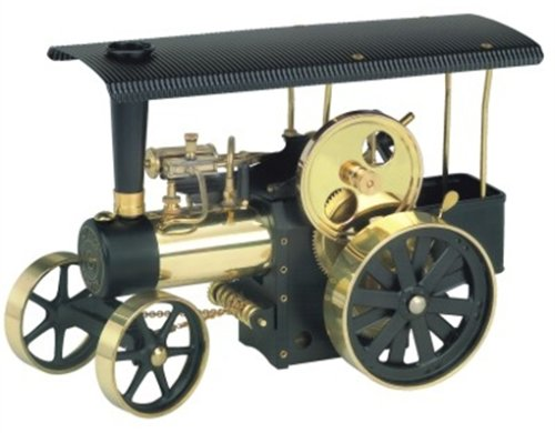00406 - Wilesco D 406 - Dampftraktor schwarz/messing Dampfmaschinen / Fahrzeuge Experiment & Forschen / Dampfmaschinen