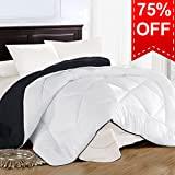 Alternative Comforter - King Comforter Duvet insert with Corner Tabs for Duvet Cover, Snow Goose Down Alternative, Hotel Collection Comforter Reversible, Hypoallergenic, 90 by 102 inches, White / Grey